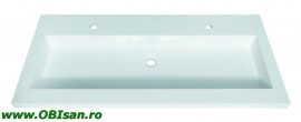 Lavoar alb 120x51,5x12,5cm pentru mobilier 80700