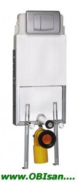 SANOSWIFT Rezervor incastrat suspendat,functie Dual Flush (3/6l) cu picioare+clapeta finisaj alb
