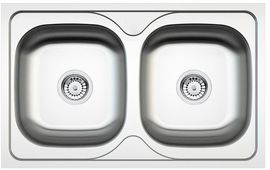 MAREDO LINEN SINKS 2 BOWLS WITH FITTING