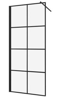 Paravan de dus finisaj negru tip Walk-in Sanotechnik Elite Black Soho - sticla 6mm