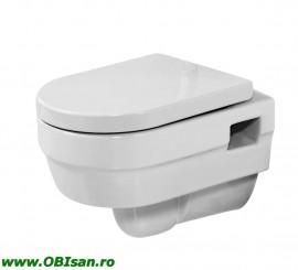 Vas WC suspendat, albinclusiv Capac WC