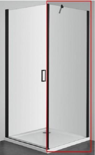 Cabina de dus modulara ELITE BLACK Parte fixa 80/90*195 si Usa batanta 80/90*195