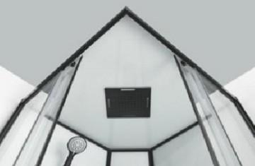 CL74 Cabina de dus completa SKY2 profile negre, montaj in 5 minute