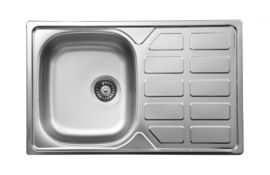 SOUL SATIN SINK 1-BOWL WITH DRAINER WITH FITTING