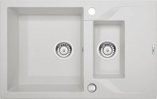 ANDANTE ALABASTER METALIC GRANITE SINK 1,5 BOWLS WITH DRAINER WITH FITTING
