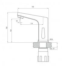 Baterie de lavoar cu senzor garantie de 7ani BCH 029V