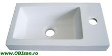 Lavoar alb 40x9,80x22cm pentru mobilier 41000, 41100, 41200