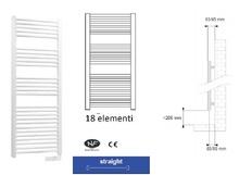 Radiator electric pentru baie cu termostat analogic, cablu electric și ștecher