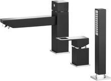 Anemon crom - negru baterie de cada cu montaj pe cada cu 3 orificii