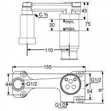 Baterie lavoar completa Kludi seria Bozz negru mat 18 cm