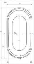 Cada ovala Kos 192 x 117