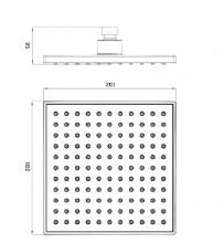 Dispersor fix - anticalcar 20x20 cm