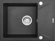 "EVORA Chiuveta Granit GRANITE SINK GRAPHITE METALIC 590X440x180, 3,5"""