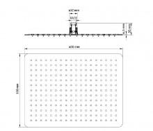 Floks dispersor fix - patrat crom anticalcar 40*30 cm
