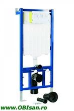 INFINITY Rezervor incastrat , asezat, cu functie Dual Flush (3/6l) cu picioare+clapet finisaj alba