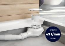 Sifon pentru cadite de duș cu scurgere de 90 mm