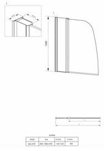 Alpinia Paravan de cada, batant, sticla 6mm