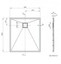 Cadita de dus dreptunghiulara - seria Correo 80/90*100