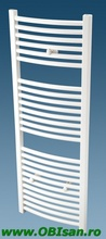 Calorifer de baie cu apa  60x80x5,5 cm   752 Watt,  curb / montaj pe perete