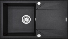 "EVORA Chiuveta Granit GRANITE SINK GRAPHITE METALIC 780x440x180, 3,5"""