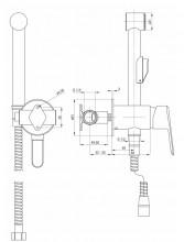 Alpinia baterie de bideu cu montaj incastrat finisaj crom