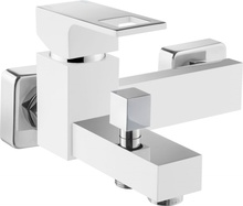 Anemon crom-alb Baterie de cada cu montaj in perete si functie de dus