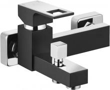 Anemon crom - negru baterie de cada cu montaj in perete si functie de dus