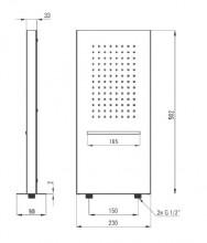 Dispersor fix - cascada multi-box cu 2 funcții montare pe perete