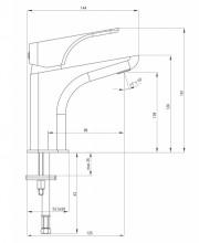 Hiacynt baterie pentru lavoar 16 cm