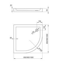 Minimal cadita forma semirotunda 100*100