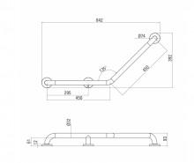 VITAL Maner cu unghi de 135° 450x450 mm