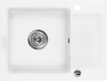 ZORBA ALABASTER METALIC GRANITE SINK 1 BOWL WITH DRAINER WITH FITTING