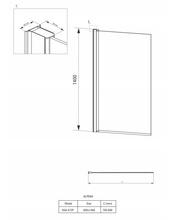 Alpinia Paravan de cada drept, batant, sticla 6mm