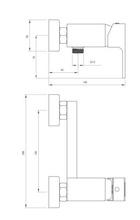 Anemon crom - negru baterie de dus cu prindere in perete