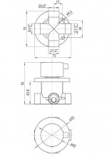 Multi-System comutator cu 3 functii finisaj crom forma rotund