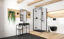 Peonia Black Vas WC suspendat negru