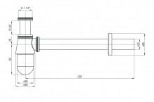 Sifon design pentru lavoar finisaj - crom forma rotund