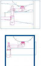 Sifon telescopic pentru lavoar - chiuveta din PVC Deante