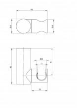 Suport dus finisaj crom forma rotunda ANR_021U
