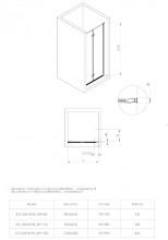 Ușă de nișă pliabilă, finisaj negru din seria Kerria