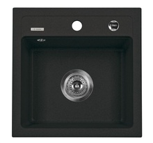 ZORBA SINK ONE BOWL WITHOUT DRAINER WITH FITTING, GRAPHITE GRANITE