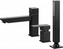 Anemon Black baterie de cada cu montaj pe cada cu 3 orificii finisaj negru