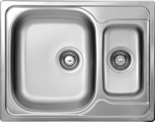 MAREDO SATIN SINK 1,5 BOWL WITH FITTING