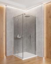 Paravan de duș walk-in, finisaj crom din seria Kerria 90 cm KTS 039P