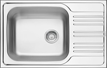 XYLO SATIN SINK 1 BOWL WITH DRAINER WITH FITTING
