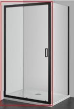Cabina de dus modulara ELITE BLACK Parte fixa 80/90*195 si Usa culisanta 100/120*195