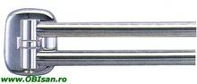 Port prosop mobil, 60 cm crom