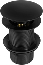 Sifon Click-Clack negru forma rotunda