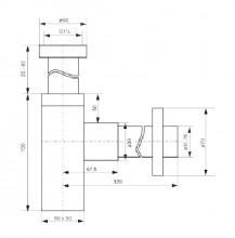 Sifon design pentru lavoar finisaj - crom Deante