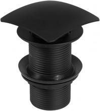 Sifon Click-Clack negru forma patrata